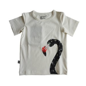 Hebe【ヘベ】Top white with Flamingo 20%Off|sugardays
