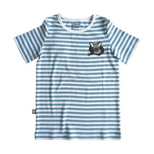 Hebe【ヘベ】Top with stripes and dog embrodery 20%Off|sugardays