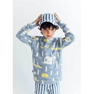 Hebe【ヘベ】Blue animal print スウェットトップ|sugardays