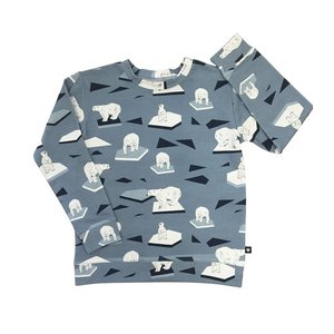 Hebe【ヘベ】Blue top with Polarbears  20%Off|sugardays