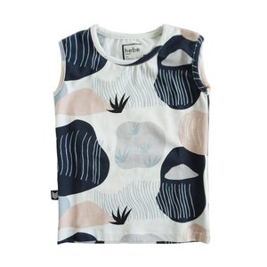 Hebe【ヘベ】sleeveless Top with large print 20%Off|sugardays