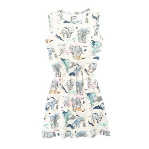 Hebe【ヘベ】Dress with Elephants 30%Off|sugardays