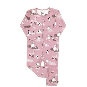Hebe【ヘベ】Pink Romper with Penguins 20%Off|sugardays