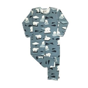 Hebe【ヘベ】Blue romper with Polarbears 20%Off|sugardays