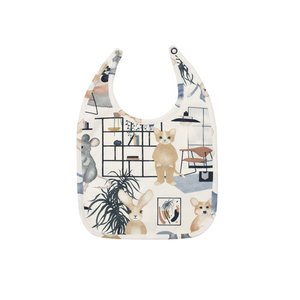 Hebe【ヘベ】White Sweet home print ビブ|sugardays
