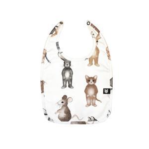 Hebe【ヘベ】White animal print ビブ|sugardays