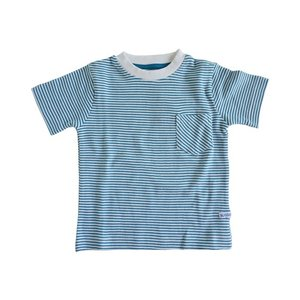 Rugged Butts【ラゲッドバッツ】PeacockBlue Striped pocket Tee 20%Off|sugardays