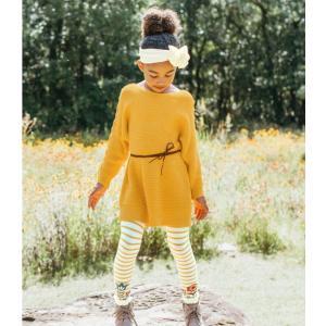 Ruffle Butts【ラッフルバッツ】Golden yellow lace-up ニットチュニック|sugardays