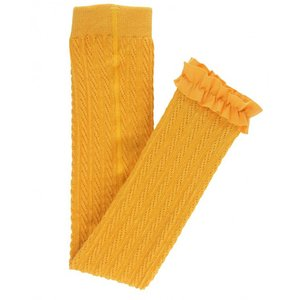 RuffleButts(ラッフルバッツ)Golden yellow Cable-フットレスニットタイツ|sugardays