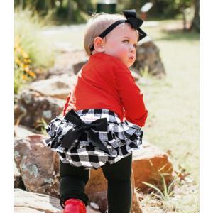 Ruffle Butts【ラッフルバッツ】Black & white plaid bow Rufflebutt(ブルマ) sugardays