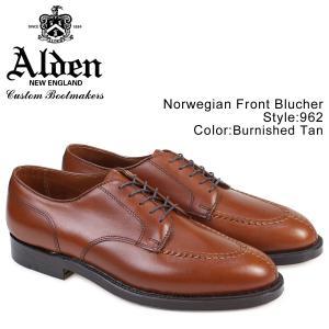ALDEN オールデン シューズ NORWEGIAN FRONT BLUCHER Dワイズ 962 メンズ|sugaronlineshop