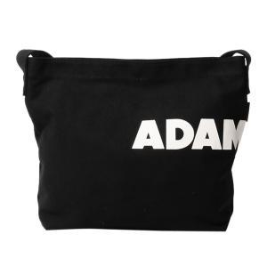 アダムパテック ADAM PATEK バッグ ショルダーバッグ メンズ レディース KENTON LOGO CANVAS SHOULDER ブラック ホワイト 黒 白 AMPK-B047 [予約商品 11/6頃入荷予定 新入荷]