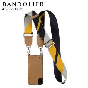 バンドリヤー BANDOLIER  iPhoneXS X ケース スマホ 携帯 アイフォン レディース  BELLA TAN NAVY キャメル 10bel 12/25 新入荷|sugaronlineshop