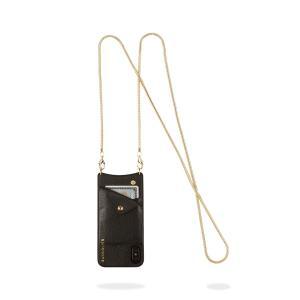 BANDOLIER バンドリヤー iPhone XS X ケース スマホ 携帯 アイフォン ショルダー BELINDA GOLD メンズ レディース ブラック 黒 2002 [予約商品 12/10頃入荷予定 追加入荷]