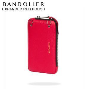 バンドリヤー BANDOLIER  ポーチ スマホ 携帯 レディース  EXPANDED RED POUCH レッド 21cas|sugaronlineshop