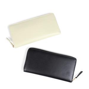 COMME des GARCONS 財布 メンズ レディース 長財布 ラウンドファスナー コムデギャルソン SA0110 ブラック オフホワイト 9/10 新入荷|sugaronlineshop