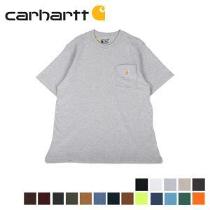 カーハート carhartt Tシャツ 半袖 メンズ ポケット ポケT WORKER POCKET S/S T-SHIRTS ブラック ホワイト グレー ネイビー ベージュ 黒 K87 [10/21 追加入荷]