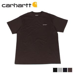カーハート carhartt Tシャツ メンズ 半袖 無地 SS SCRIPT EMBROIDERY T-SHIRT ブラック グレー ダーク ネイビー ブラウン 黒 I025778 [11/7 新入荷]