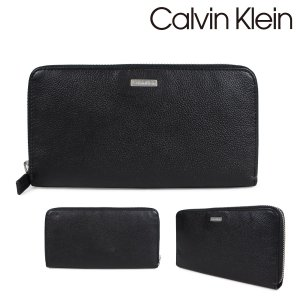 カルバンクライン Calvin Klein 財布 メンズ 長財布 YEN ZIP AROUND CONTINENTAL ブラック 79441