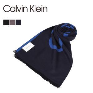 カルバンクライン Calvin Klein マフラー ストール メンズ CK LOGO WOVEN SCARF ブラック グレー ネイビー 黒 1CK0124 [11/12 新入荷]