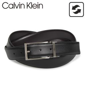 Calvin Klein カルバンクライン ベルト メンズ リバーシブル 32MM REVERIBLE BELTSET ブラック ブラウン 黒 74310|sugaronlineshop