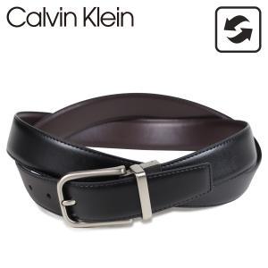 Calvin Klein カルバンクライン ベルト レザーベルト メンズ 本革 リバーシブル 32MM REVERSIBLE BELT ブラック ブラウン 黒 75657|sugaronlineshop