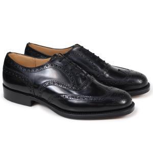 Churchs チャーチ 靴 バーウッド ウイングチップ シューズ メンズ BURWOOD レザー ブラック EEB002|sugaronlineshop