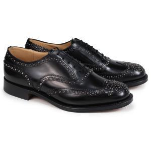 Churchs チャーチ 靴 バーウッド 2S ウイングチップ シューズ メンズ BURWOOD 2S POLISHED BINDER EEB012 スタッズ ブラック 黒|sugaronlineshop