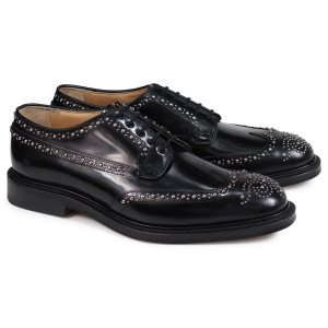 Churchs チャーチ 靴 グラフトン メット ウイングチップ シューズ メンズ GRAFTON MET POLISHED BINDER EEB228 スタッズ ブラック 黒|sugaronlineshop