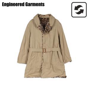 エンジニアドガーメンツ ENGINEERED GARMENTS コート メンズ リバーシブル ヒョウ柄 SHAWL COLLAR REVERSIBLE COAT カーキ 19FD019 [11/12 新入荷]