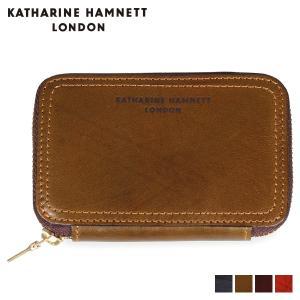 キャサリンハムネット ロンドン KATHARINE HAMNETT LONDON 財布 ミニ財布 メンズ ラウンドファスナー MINI WALLET ネイビー オリーブ ブラウン ダークブラウン KH-1207015 [11/8 新入荷]