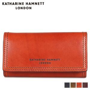 キャサリンハムネット ロンドン KATHARINE HAMNETT LONDON キーケース キーホルダー メンズ 4連 KEYCASE ネイビー オリーブ ブラウン ダークブラウン KH-1207025 [11/8 新入荷]