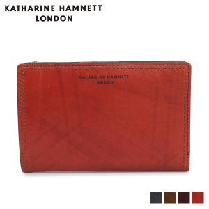 キャサリンハムネット ロンドン KATHARINE HAMNETT LONDON 財布 二つ折り メンズ WALLET ネイビー オリーブ KH-1213015 [11/8 新入荷]