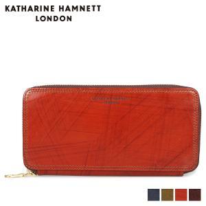 キャサリンハムネット ロンドン KATHARINE HAMNETT LONDON 財布 長財布 メンズ ラウンドファスナー WALLET ネイビー オリーブ ブラウン ダークブラウン KH-1214015 [11/8 新入荷]
