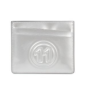 MAISON MARGIELA メゾンマルジェラ カードケース 名刺入れ 定期入れ メンズ レディース CARD CASE レザー ホワイト シルバー 白 S35UI0432 PR213 10/8 新入荷|sugaronlineshop