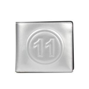 MAISON MARGIELA メゾンマルジェラ 財布 二つ折り メンズ レディース BI-FOLD WALLET レザー ホワイト シルバー 白 S35UI0435 PR213 10/9 新入荷|sugaronlineshop