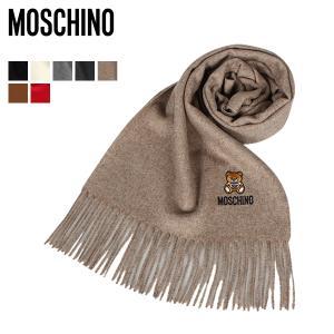 モスキーノ MOSCHINO マフラー レディース メンズ MUFFLER ブラック ホワイト グレー チャコールグレー ベージュ ブラウン レッド 黒 白 50124 M5293 [11/13 新入荷]