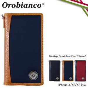 Orobianco オロビアンコ iPhone XR X XS ケース 手帳型 スマホ アイフォン CLASSICO レザー メンズ レディース ORIP-0001 11/9 新入荷 sugaronlineshop