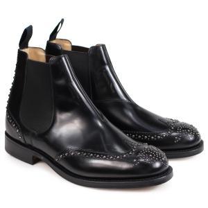 訳あり BOXなし チャーチ Churchs 靴 ケッツビー 81 ブーツ サイドゴア ショートブーツ メンズ KETSBY 81 MET POLISHED BINDER ブラック 黒 ETB009 返品不可|sugaronlineshop