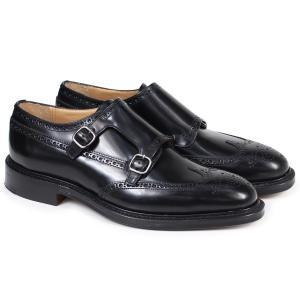 訳あり BOXなし チャーチ Churchs 靴 ダブルモンクストラップ シューズ メンズ レザー MONKTON ブラック 黒 EOB008 返品不可|sugaronlineshop