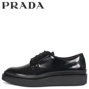 PRADA プラダ シューズ ビジネスシューズ メンズ HIGH SOLE LACE UP ブラック 黒 2EE311 [3/3 新入荷]|sugaronlineshop