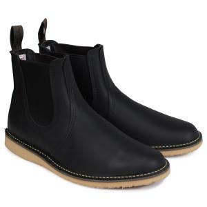 RED WING レッドウィング ブーツ チェルシー サイドゴア メンズ WEEKENDER CHELSEA Dワイズ ブラック 黒 3310 9/10 追加入荷|sugaronlineshop