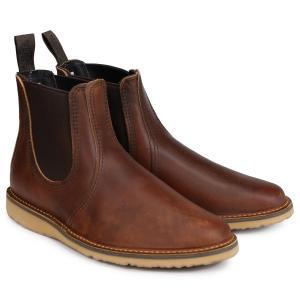 RED WING レッドウィング ブーツ チェルシー サイドゴア メンズ WEEKENDER CHELSEA Dワイズ ブラウン 3311 9/10 再入荷|sugaronlineshop