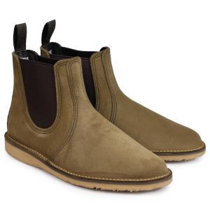 RED WING レッドウィング ブーツ チェルシー サイドゴア メンズ WEEKENDER CHELSEA Dワイズ カーキ 3312 9/10 追加入荷|sugaronlineshop