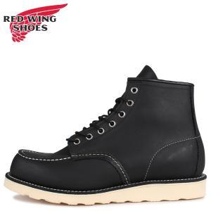 RED WING レッドウィング 6インチ クラシック モック トゥ ブーツ メンズ 6INCH CLASSIC MOC TOE Dワイズ ブラック 黒 9075|sugaronlineshop