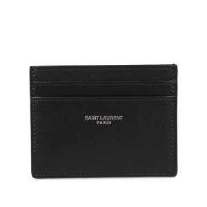 サンローラン パリ SAINT LAURENT PARIS パスケース カードケース ID 定期入れ メンズ 本革 YSL CREDIT CARD CASE ブラック 黒 3759460U90N [10/7 新入荷]