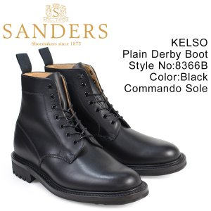 SANDERS 靴 サンダース ミリタリー ダービー ブーツ プレーントゥ KELSO 8366B ...