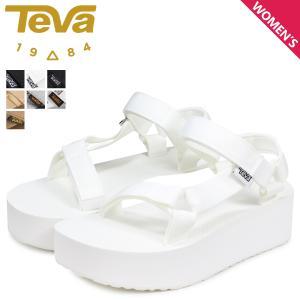 テバ Teva サンダル フラットフォーム ユニバーサル レディース 厚底 W FLATFORM UNIVERSAL ブラック ホワイト 黒 白 1008844
