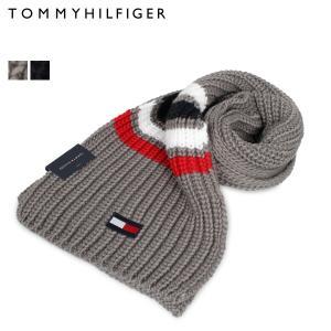 トミーヒルフィガー TOMMY HILFIGER マフラー メンズ レディース MUFFLER グレー ネイビー 1CT0232 [11/12 新入荷]