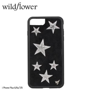 wildflower ワイルドフラワー iPhone 8 7 6 6s Plus レディース ブラック 黒 BSST [11/11 新入荷]